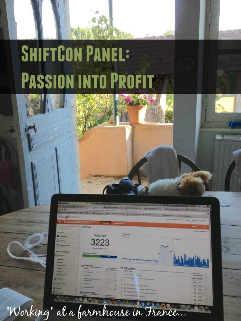 Passion into profit ShiftCon Workshop
